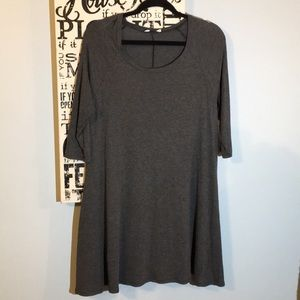 elonges Grey Tunic T with Pockets